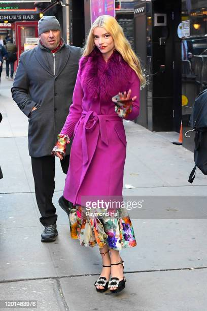 Actress Anya Taylor-Joy is seen outside 'Good Morning America' on February 17, 2020 in New York City.