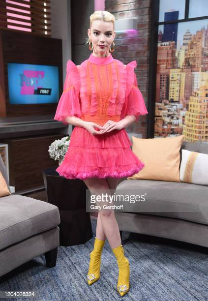 Actress Anya TaylorJoy visits People Now on February 04 2020 in New York United States