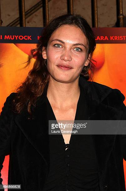 Actress Aomi Muyock attends the Love New York City Premiere at Village East Cinema on October 29 2015 in New York City