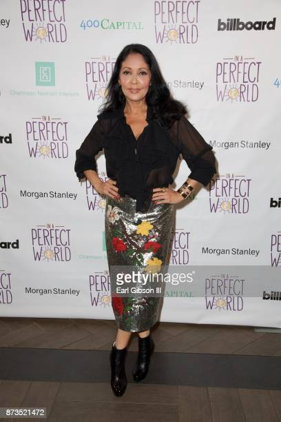 Actress Apollonia attends In A Perfect World Foundation Honors Quincy Jones at Four Seasons Hotel Los Angeles at Beverly Hills on November 12 2017 in...