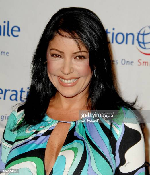 Actress Apollonia Kotero arrives at Operation Smile 25th Anniversary Gala at the Beverly Hilton Hotel on October 5 2007 in Beverly Hills California