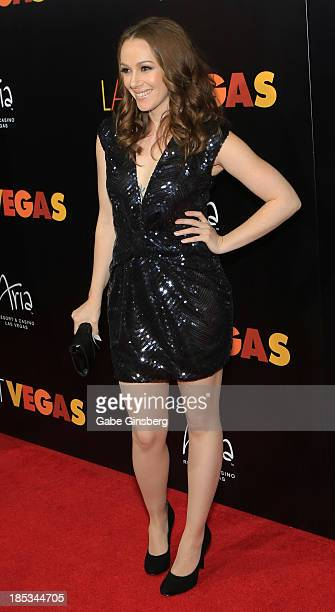 Actress April Billingsley arrives at the after party for a screening of CBS Films' 'Last Vegas' at Haze Nightclub at the Aria Resort Casino at...