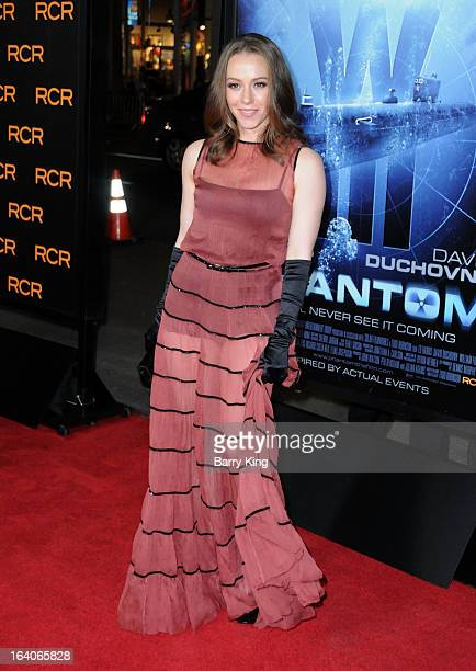 Actress April Billingsley arrives at the Los Angeles premiere of 'Phantom' held at TCL Chinese Theatre on February 27 2013 in Hollywood California