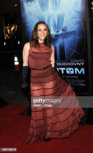 Actress April Billingsley arrives for the Premiere Of 'Phantom' held at The TCL Chinese Theater on February 27 2013 in Hollywood California