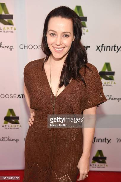 Actress April Billingsley attends the Atlanta Film Festival opening night red carpet screening of 'Dave Made A Maze' at the Plaza Theater on March 24...