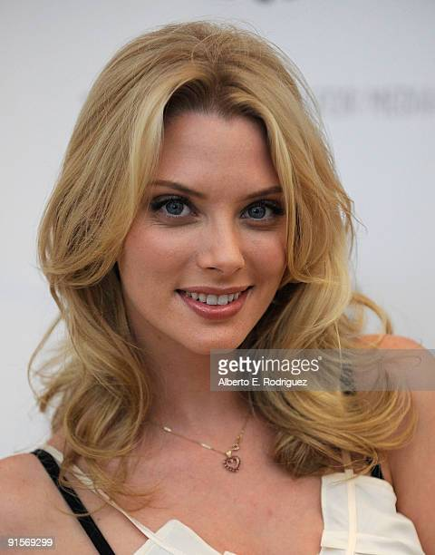 Actress April Bowlby arrives at the 'Drop Dead Diva Season One Finale held at the Paley Center for Media on October 7 2009 in Beverly Hills California