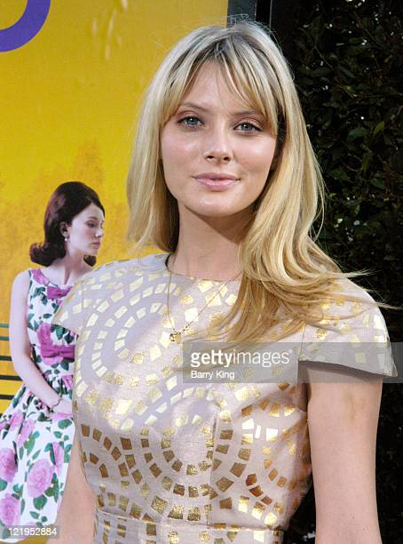 Actress April Bowlby arrives at the Los Angeles Premiere 'The Help' at AMPAS Samuel Goldwyn Theater on August 9 2011 in Beverly Hills California