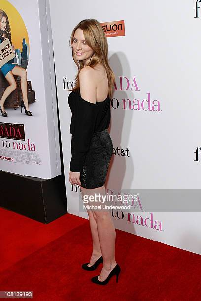 Actress April Bowlby arrives at the premiere of 'From Prada To Nada' held at the LA Live Regal Cinemas on January 18 2011 in Los Angeles California