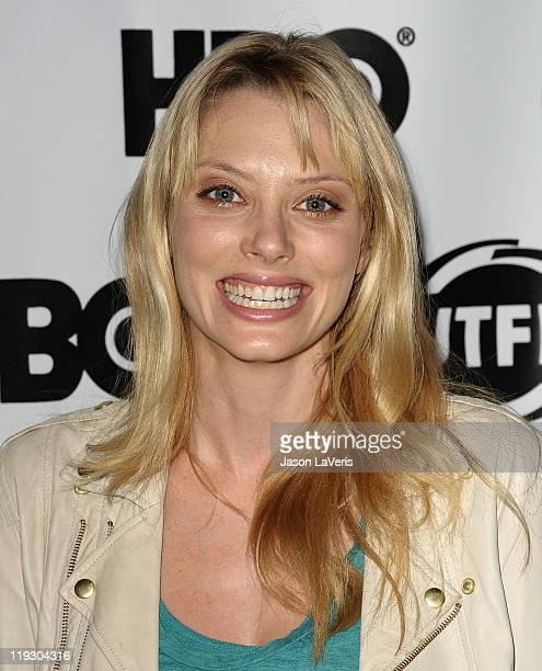 Actress April Bowlby attends a screening of 'Drop Dead Diva' at the 29th annual Gay Lesbian Film Festival at Directors Guild Of America on July 17...
