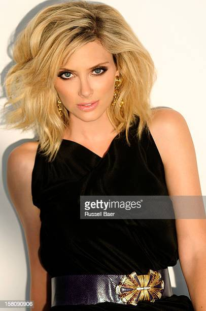 Actress April Bowlby is photographed for Be magazine on July 15 2012 in Santa Monica California
