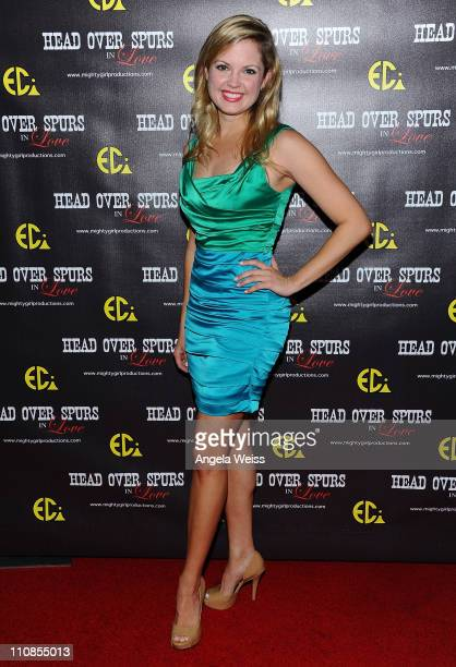 Actress April Brooks arrives at the world premiere of 'Head Over Spurs In Love' at Majestic Crest Theatre on March 24, 2011 in Los Angeles,...