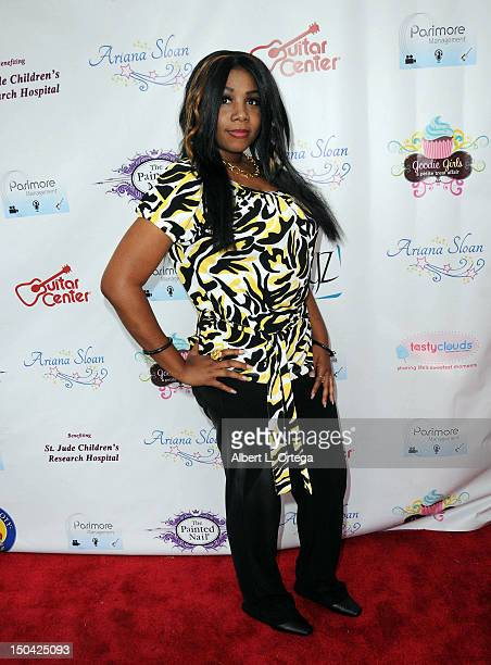 Actress April Deshaynior arrives for Ariana Sloan Sweet 16 CD Release held at The Painted Nail on August 16 2012 in Sherman Oaks California
