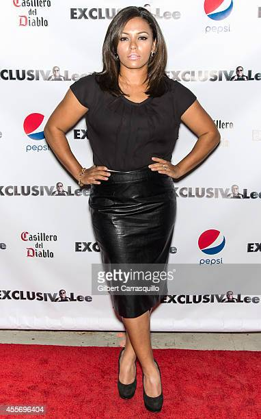 Actress April Lee Hernandez attends the New York Launch party for Exclusivleecom at Stray Kat Gallery on September 18 2014 in New York City