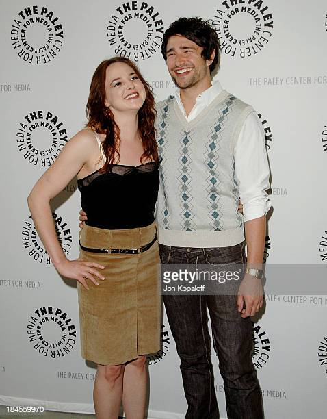 Actress April Matson and actor Matt Dallas arrive at 'Kyle XY' presented by The Paley Center Events for Media 2008 at the The Paley Center on April 7...