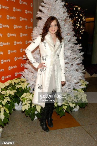 Actress April Matson attends ABC Family's '25 Days Of Christmas' Winter Wonderland at The Rock Center Cafe on December 2 2007 in New York City