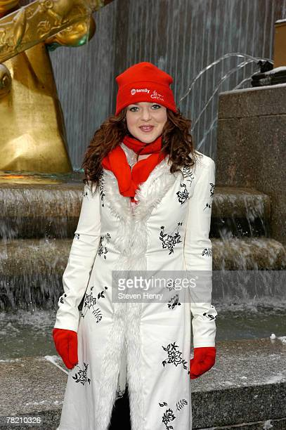 Actress April Matson poses at ABC Family's '25 Days Of Christmas' Winter Wonderland at The Rock Center Cafe on December 2 2007 in New York City
