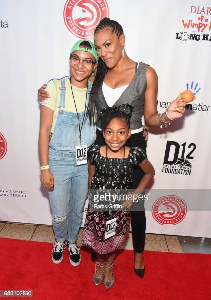 """Actress April Parker-Jones attends """"Diary Of A Wimpy Kid: The Long Haul"""" Atlanta screening hosted by Dwight Howard at Regal Atlantic Station on May..."""