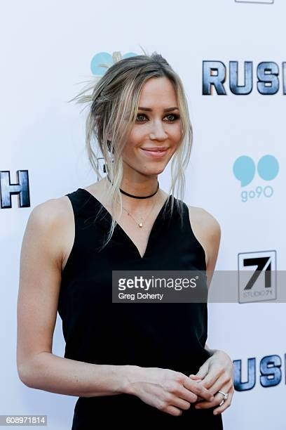 Actress Aqueela Zoll arrives for the Premiere Of Studio 71's 'Rush Inspired By Battlefield' at the ArcLight Hollywood on September 19 2016 in...