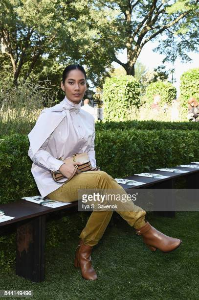 Actress ara Basro attends the Tory Burch Spring Summer 2018 Fashion Show at Cooper Hewitt, Smithsonian Design Museum on September 8, 2017 in New York...
