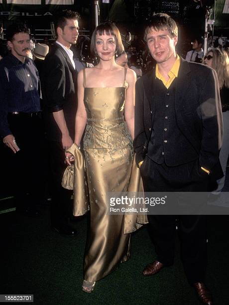 Actress Arabella Field and actor Sam Rockwell attend the Godzilla New York City Premiere on May 18 1998 at Madison Square Garden in New York City