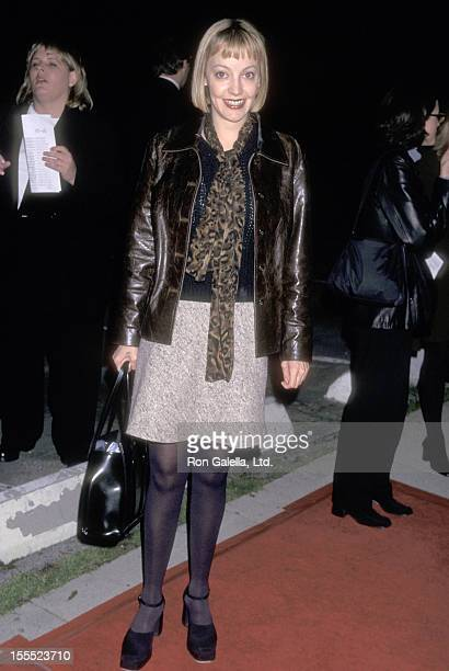 Actress Arabella Field attends the Kissing a Fool Westwood Premiere on February 18 1998 at Mann Plaza Theatre in Westwood California