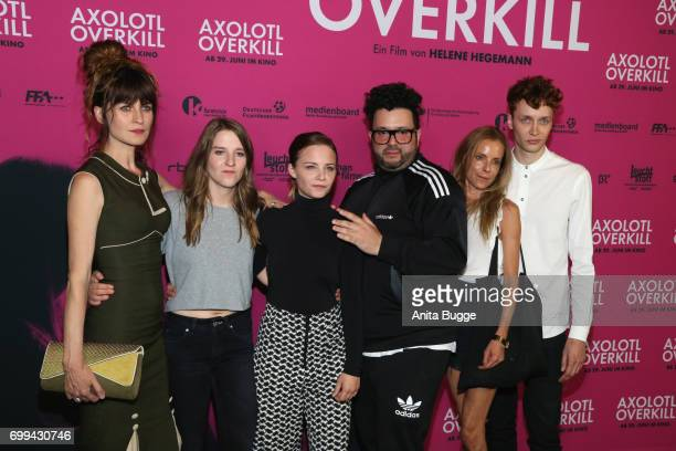 Actress Araceli Jover director Helene Hegemann actors Jasna Fritzi Bauer Oliver Polak guest and Julius Feldmeier attend the AXOLOT Overkill premiere...