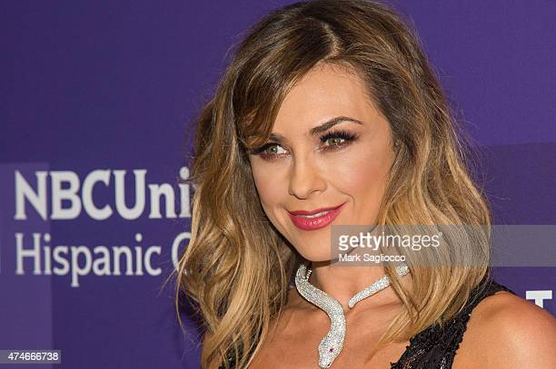 Actress Aracely Arambula attends the 2015 Telemundo and NBC Universo Upfront at Frederick P Rose Hall Jazz at Lincoln Center on May 12 2015 in New...
