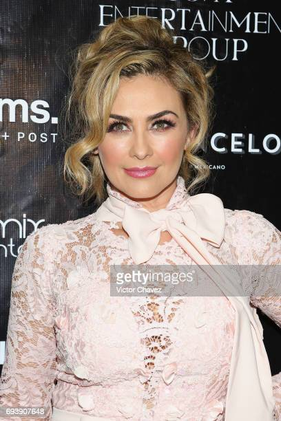 Actress Aracely Arambula attends the 'Mano A Mano' exposition on June 7 2017 in Mexico City Mexico The objective of this exhibition is to raise funds...
