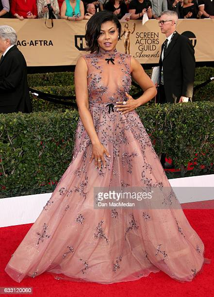 Actress araji P Henson arrives at the 23rd Annual Screen Actors Guild Awards at The Shrine Expo Hall on January 29 2017 in Los Angeles California