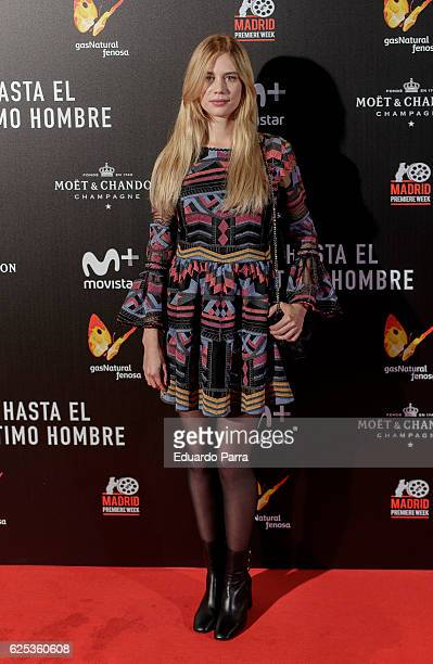 Actress Arancha Marti attends the 'Hasta el ultimo hombre' photocall at Callao cinema on November 23 2016 in Madrid Spain