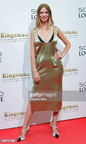 Actress Arancha Marti attends the 'Kingsman El Circulo De Oro' premiere at Callao cinema on September 19 2017 in Madrid Spain