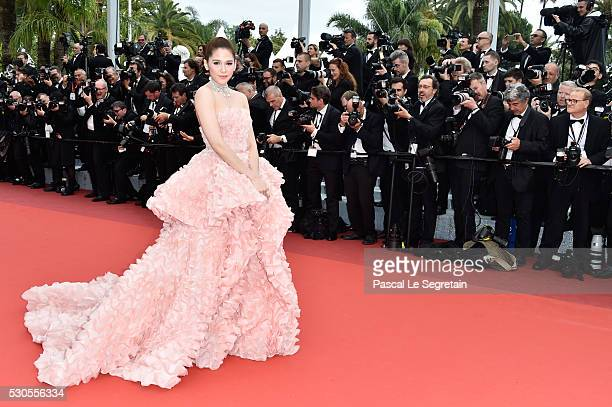 Actress Araya A Hargate attends the 'Cafe Society' premiere and the Opening Night Gala during the 69th annual Cannes Film Festival at the Palais des...