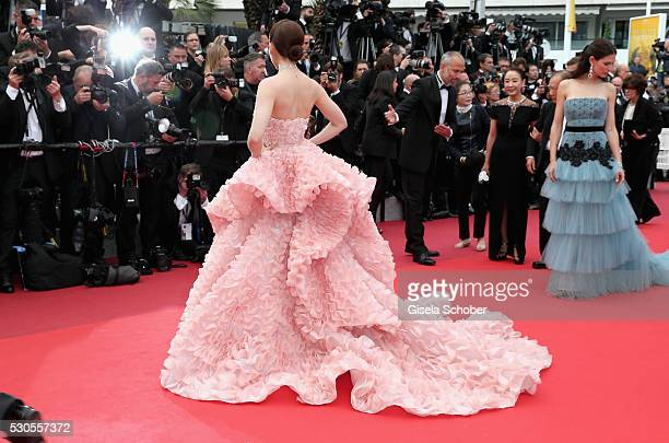 Actress Araya A Hargate attends the Cafe Society premiere and the Opening Night Gala during the 69th annual Cannes Film Festival at the Palais des...