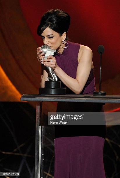 Actress Archie Panjabi accepts the award for Outstanding Supporting Actress in a Drama Series for The Good Wife onstage at the 43rd NAACP Image...