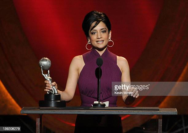 Actress Archie Panjabi accepts the award for Outstanding Supporting Actress in a Drama Series for 'The Good Wife' onstage at the 43rd NAACP Image...