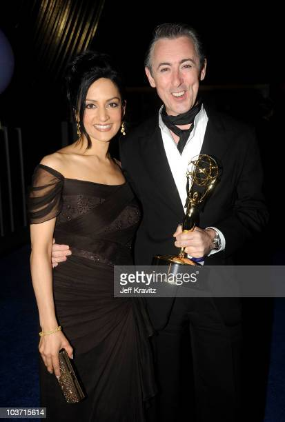 Actress Archie Panjabi and actor Alan Cumming attend the 62nd Annual Primetime Emmy Awards Governors Ball held at the Los Angeles Convention Center...