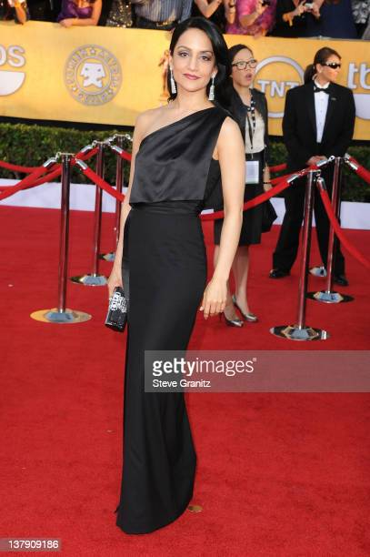 Actress Archie Panjabi arrives at the 18th Annual Screen Actors Guild Awards held at The Shrine Auditorium on January 29 2012 in Los Angeles...