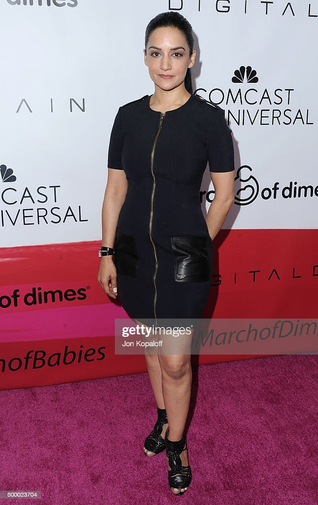 Actress Archie Panjabi arrives at the 2015 March Of Dimes Celebration Of Babies at the Beverly Wilshire Four Seasons Hotel on December 4, 2015 in Beverly Hills, California.
