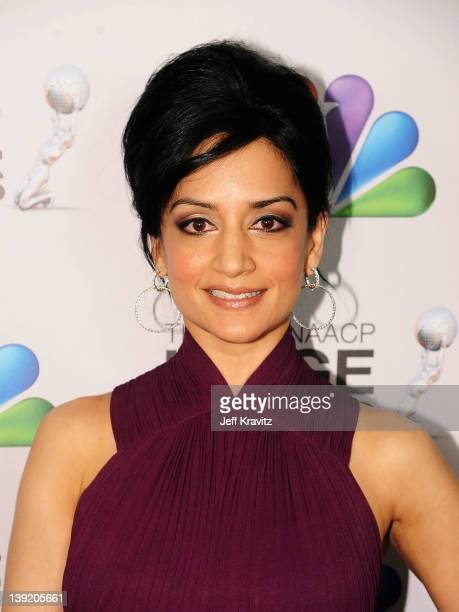 Actress Archie Panjabi arrives at the 43rd NAACP Image Awards after party held at The Shrine Auditorium on February 17, 2012 in Los Angeles,...