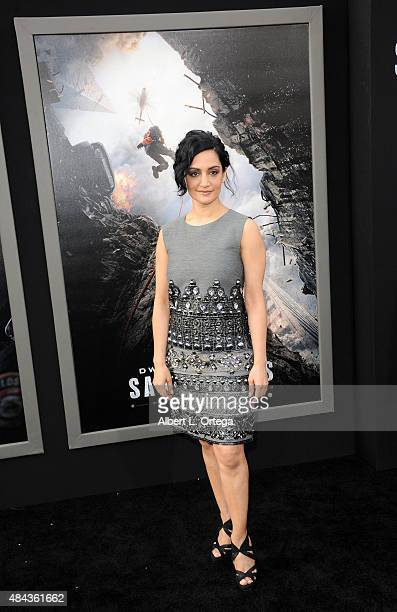 Actress Archie Panjabi arrives for the Premiere Of Warner Bros Pictures' 'San Andreas' held at TCL Chinese Theatre on May 26 2015 in Hollywood...