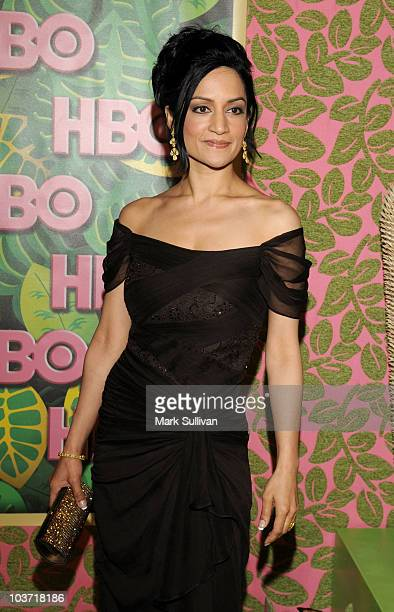 Actress Archie Panjabi attends HBO after party for the 62nd Primetime Emmy Awards at Pacific Design Center on August 29 2010 in West Hollywood...