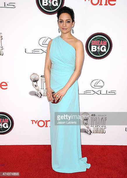 Actress Archie Panjabi attends the 45th NAACP Image Awards at Pasadena Civic Auditorium on February 22 2014 in Pasadena California