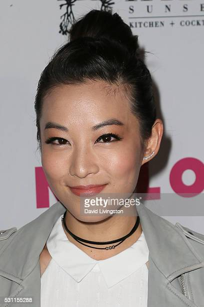 Actress Arden Cho arrives at NYLON and BCBGeneration's Annual Young Hollywood May Issue Event at HYDE Sunset Kitchen Cocktails on May 12 2016 in West...