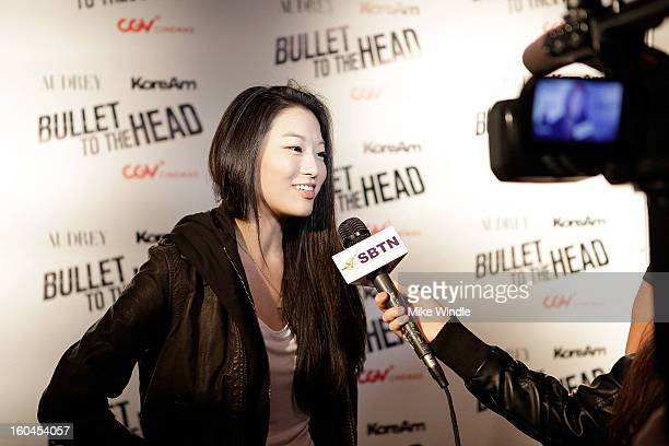 Actress Arden Cho attends KoreAm Journal and Audrey Magazine's advanced screening of 'Bullet To The Head' at CGV Cinemas on January 31 2013 in Los...