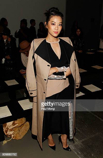 Actress Arden Cho attends the Giulietta Fall 2016 fashion show at Pier 59 Studios on February 12 2016 in New York City
