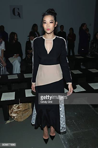 Actress Arden Cho attends the Giulietta fashion show during Fall 2016 New York Fashion Week at Pier 59 Studios on February 12 2016 in New York City