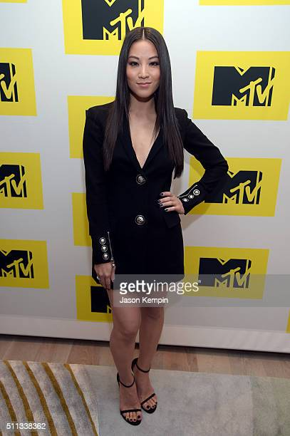 Actress Arden Cho attends the MTV Press Junket Cocktail Party at The London West Hollywood on February 18 2016 in West Hollywood California