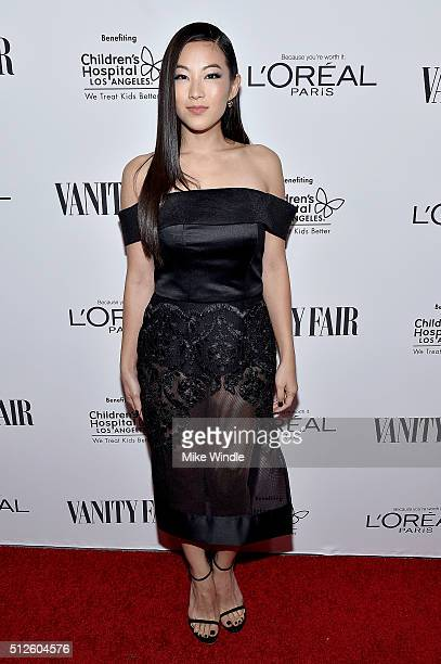 Actress Arden Cho attends Vanity Fair L'Oreal Paris Hailee Steinfeld host DJ Night at Palihouse Holloway on February 26 2016 in West Hollywood...