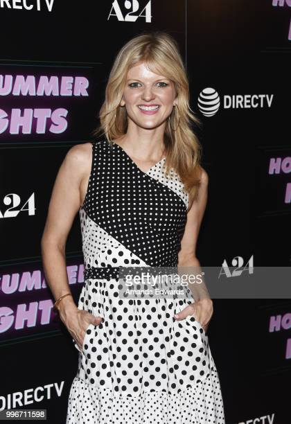 Actress Arden Myrin arrives at the Los Angeles special screening of 'Hot Summer Nights' at the Pacific Theatres at The Grove on July 11 2018 in Los...