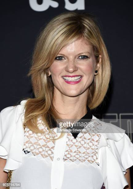 Actress Arden Myrin arrives at the premiere of USA Network's 'Unsolved The Murders of Tupac and The Notorious BIG' at Avalon on February 22 2018 in...